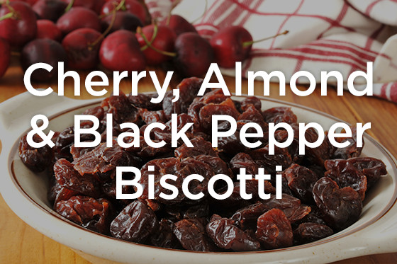 cherry, almond, and black pepper biscotti
